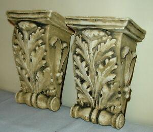 "Antique Finish Shelf Acanthus leaf plaster Wall Corbel Sconce Bracket 5.5"""