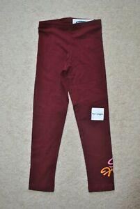 Old Navy Girls' Dark Red So Fresh Cotton Blend Leggings - Size 5