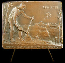 Médaille R Ambayrac 1916 cheminots chemins de fer Train Railway aiguilleur Medal