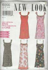 Vintage New Look Sewing Pattern 6966 Dress 5 Options 6-16 UNCUT