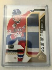 2018-19 SP Game Used Supreme Patches Shayne Corson #8/15
