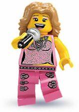 Lego  Minifigure  -  Series 2 - 8684 -  Pop Singer - Kelly Clarkson Look a Like