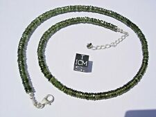 88.8 carats thin checkered cut beads 5 x 1mm MOLDAVITE necklace 18 inches