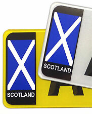 PAIR Scotland Scottish Saltire Flag Vinyl Stickers For Car Number Plate Brexit