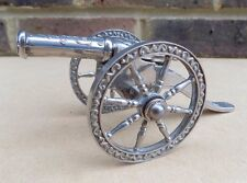 Vintage Silver Plated Canon Model