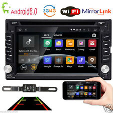 4-Core Android 6.0 Wifi 4G Car DVD Player Stereo GPS Nav BT OBD Radio+Camera+Map
