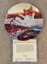"""W.S. George signed plate """"Eyes on the Sly"""" plate 3, Eyes of Wild #4869A"""