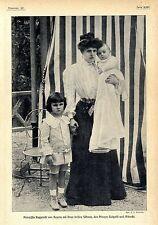 Prinzessin Rupprecht von Bayern mit ihren Söhnen Luitpold u.Albrecht c.1905