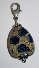 "Fenton Art Glass CLIP ON Charm DANGLE ""MOONSTRUCK"" 11324 Rective Glass"