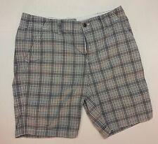 Express Mens Grey Plaid Shorts 34