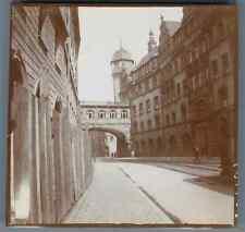 Deutschland, Frankfurt am Main, Römerberg Rathaus  Vintage citrate print. Vintag
