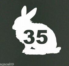 Sticky Autoadhesivo Conejo Bunny Vinilo Wheelie Bin Número Adhesivo Calcomanía WB Nuevo