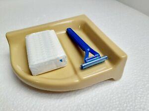 Harvest Gold Ceramic Corner Tray Ledge Soap Dish Holder Classic Color 031 Autumn