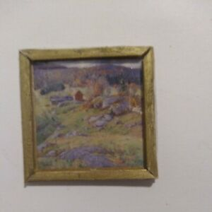 FRAMED  PICTURE - Handcrafted  ~ 1:24 scale ~ Dollhouse ~ Artisan