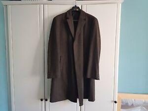 Hugo Boss Herringbone Overcoat - Stratus