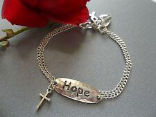 BRAIN CANCER AWARENESS FAITH AND HOPE BRACELET