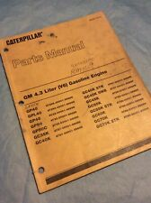 CAT CATERPILLAR GM 4.3 V6 GASOLINE ENGINE PARTS BOOK MANUAL GP/GC-40/45/50 Shop