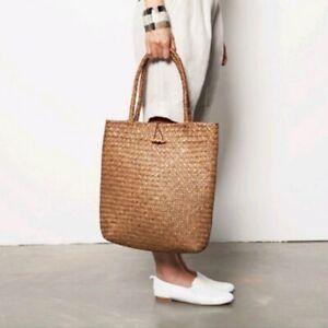 Women Straw Handbag Beach Bag Woven Large Shoulder Bag Large Capacity Tote