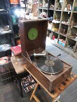 Antique Talking Machine Hand Crank Portable Phonograph Player parts/repair