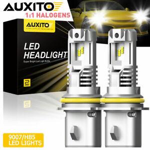 High Power 9007/HB5 LED Headlight 24000LM Kit Hi Lo Beam Canbus Mini Bulbs 6000K