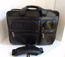 TUMI - EXPANDABLE LEATHER BRIEFCASE LAPTOP MESSENGER BAG  (96141D4) - NICE!!!