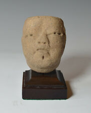 Pre columbian Ancient Mexico Olmec pottery head circa 1200 BC to 400 BC