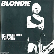 BLONDIE - RIP HER TO SHREDS / IN THE FLESH / X OFFENDER CD SINGLE CARD SLEEVE