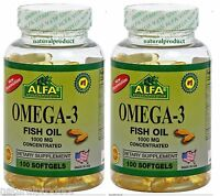 2 Omega 3 1000mg CONCETATE EACH SOFTGEL,Omega 3(Bottle XL),fish oil,EPA,DHA