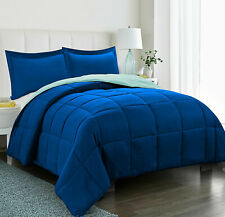 250 GSM Down Alternative 3 Piece Solid Reversible Comforter set All size & color