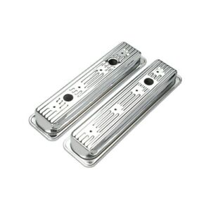 Transdapt 9702 Traditional Design Valve Covers For 87-99 5.0-5.7L Chevy NEW