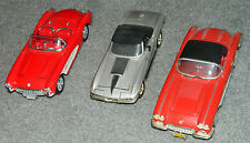 LOT of 3 VINTAGE CHEVROLET CORVETTE DIE CAST CARS Welly / Classic Metal Works