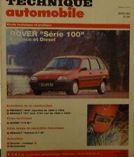 ROVER 100 essence diesel 114 SL REVUE TECHNIQUE RTA 549 1993 PEUGEOT 405 R21