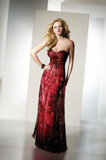 ALYCE PARIS B'DAZZLE $299 8 RED ROSE ROMANTIC ORGANZA PAGEANT PROM GALA FORMAL