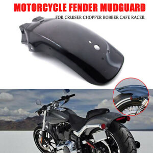 Motorcycle Rear Fender Mudguard Black Universal For Honda Yamaha Suzuki Chopper