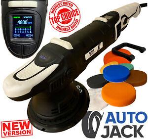 Autojack DA Car Polisher with Digital LCD Display Dual Action Sander Waxing