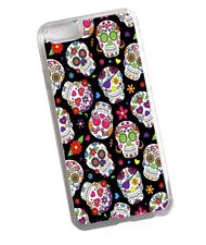 Mexican Day Of The Dead Sugar Skull Pattern Design Clear Case Cover for iPhone 7