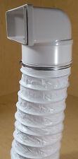 Flachkanal 220x90 Dunstabzug Mauerkasten Ø150 Umlenkung 90° mit Kunstsoff Flex