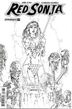 Red Sonja #1 Sketch Incentive Cover Dynamite Comic Book