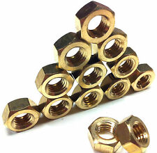 METRIC BRASS FULL NUTS - M2, M2.5, M3, M3.5, M4, M5, M6, M8, M10, M12, M16, M20