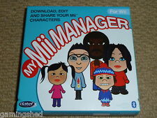 Nintendo WII Il mio Mii Manager Pack-PC Nuovo di Zecca! Games Software + bluetooth USB