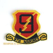 9TH MARINES HAT PATCH 1ST 2ND 3RD BATTALION MAR DIV MAW FSSG US NAVY FMF USS WOW