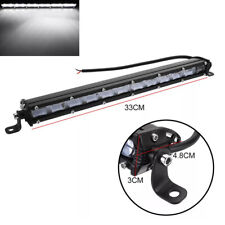 "13"" 120W Floodlight LED Work Light Bar Offroad SUV Truck Driving Lamp Universal"