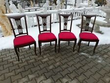 Design Upholstered Chair Royal 4 Dining Office Baroque Real Wood