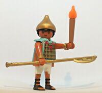 * * Playmobil Set 4240 Pyramid Guard Figure with Helmet, Torch, & Tool. * *