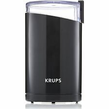 KRUPS Electric Coffee and Spice Grinder Stainless Steel blades Black F2034251