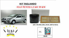KIT TAGLIANDO FILTRI + OLIO TOTAL 10W40 FIAT PUNTO 1.2 16V 59 kw