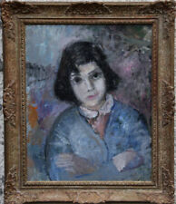 Blue Portrait Art Original Paintings