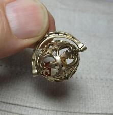 Dice Charm Pendant Gambling 9K Gold Articulated Moves Las Vegas Gambler Craps