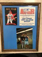 MIKE GREENWELL SIGNED 1991 ALL STAR BALLOT AUTOGRAPH BOSTON REDSOX MLB BASEBALL