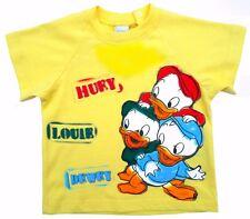 Neu! Disney Tick Trick Track T-Shirt Shirt Pulli Baumwolle gelb Gr.80